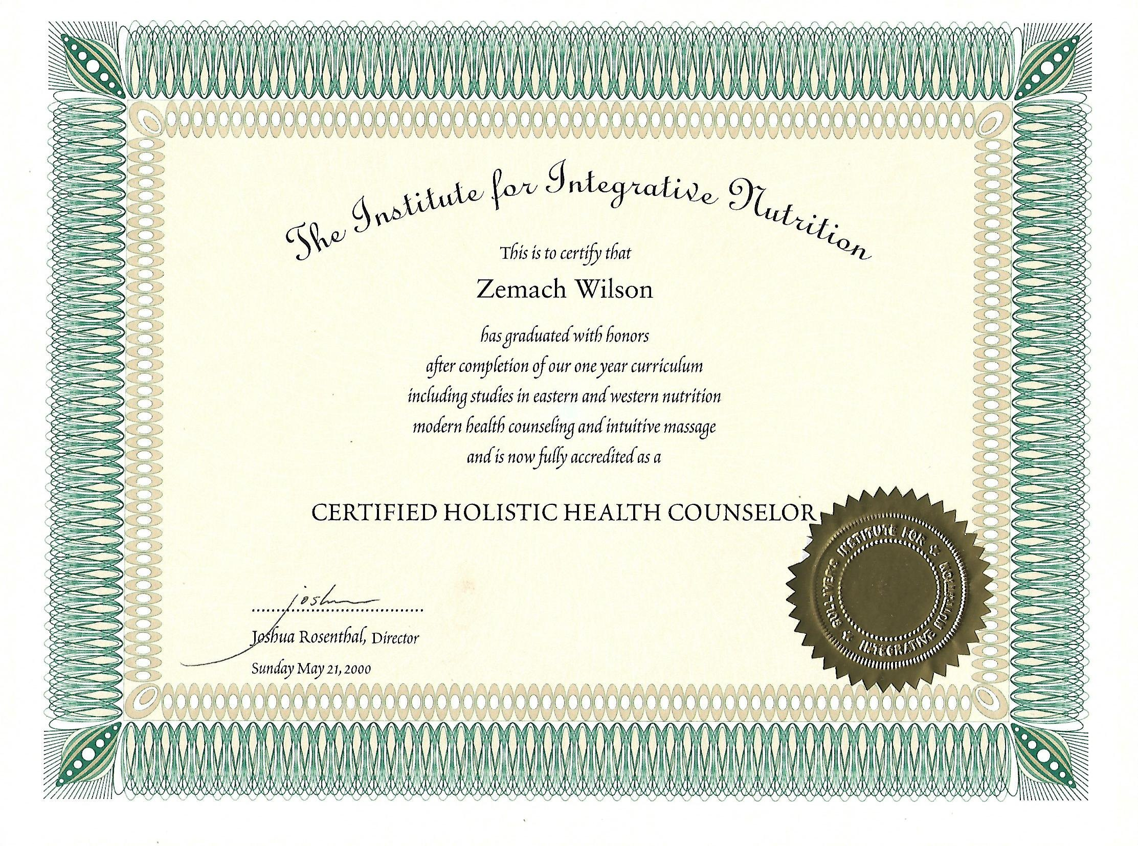 Nutritional counselor certification - Difference between